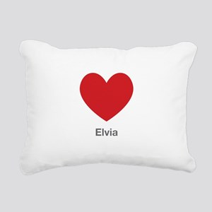 Elvia Big Heart Rectangular Canvas Pillow