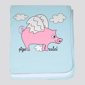 Pigs Rule! baby blanket