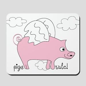 Pigs Rule! Mousepad