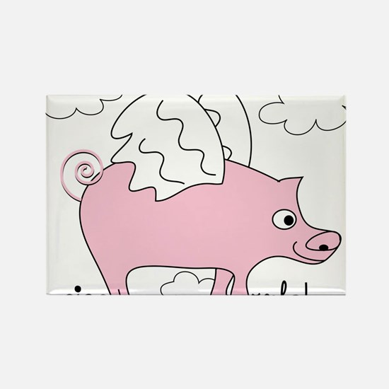 Pigs Rule! Rectangle Magnet