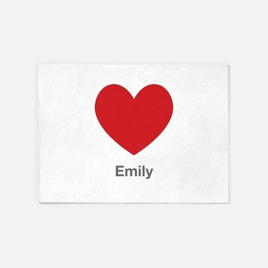 Emily Big Heart 5'x7'Area Rug
