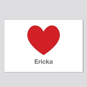 Ericka Big Heart Postcards (Package of 8)