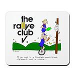 Mousepad w/ unicycle cartoon