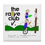 Tile Coaster w/ unicycle cartoon