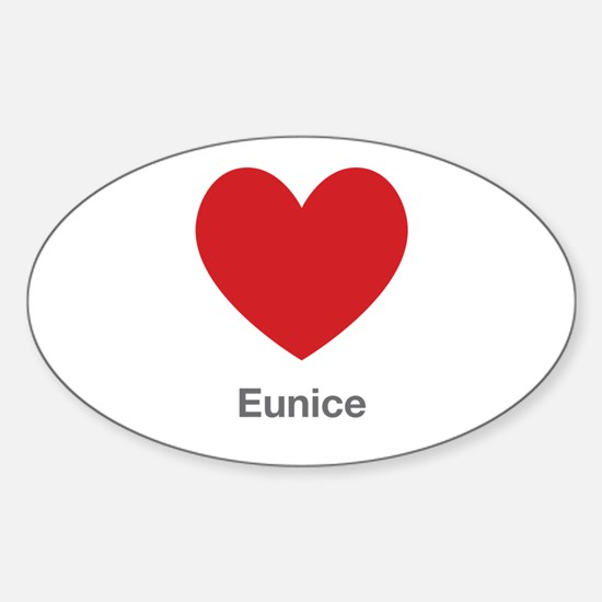 Eunice Big Heart Decal