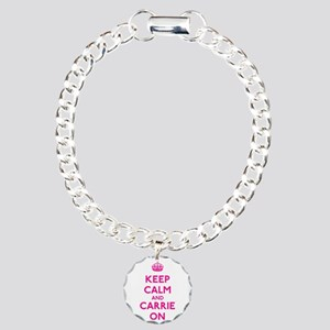Keep Calm and Carrie On Charm Bracelet, One Charm