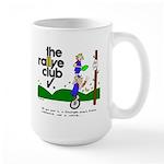 Soup mug w/ unicycle cartoon