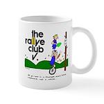 Coffee Mug w/ unicycle cartoon