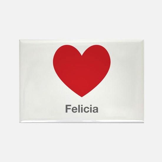 Felicia Big Heart Rectangle Magnet