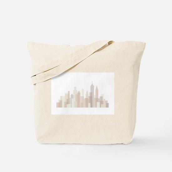 Modern New York Skyline Tote Bag