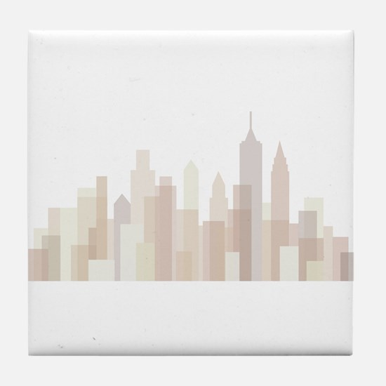 Modern New York Skyline Tile Coaster