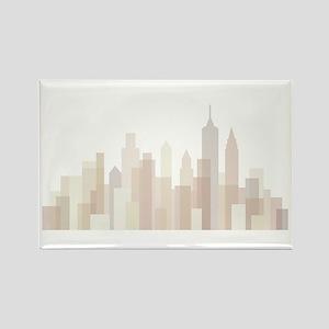 Modern New York Skyline Rectangle Magnet