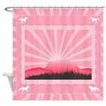 Western Pink Sunrise Shower Curtain