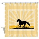 Western Horse Shower Curtain