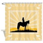 Western Cowgirl Shower Curtain