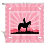 Pink Cowgirl Shower Curtain