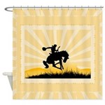 Bronc Rider Shower Curtain