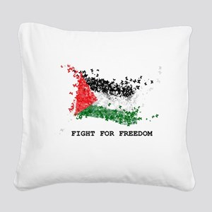 Fight For Freedom Square Canvas Pillow