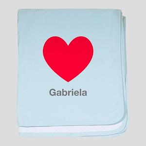 Gabriela Big Heart baby blanket