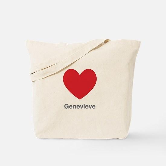 Genevieve Big Heart Tote Bag