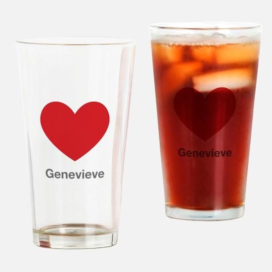 Genevieve Big Heart Drinking Glass