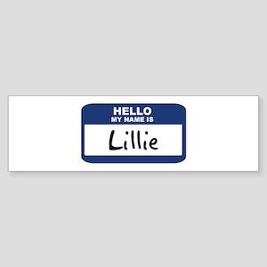 Hello: Lillie Bumper Sticker