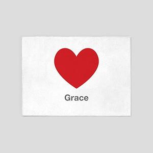 Grace Big Heart 5'x7'Area Rug