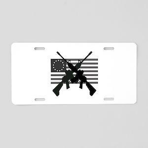 AR-15 and Revolutionary Flag Aluminum License Plat