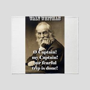 O Captain My Captain - Whitman Throw Blanket