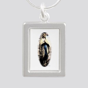 Mary Silver Portrait Necklace
