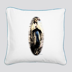 Mary Square Canvas Pillow