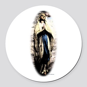 Mary Round Car Magnet