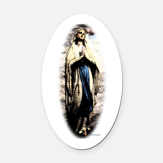 Mary Oval Car Magnet