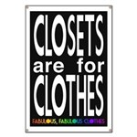 Closets are for Clothes Dark Banner