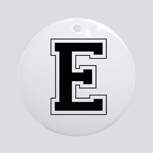 Collegiate Monogram E Ornament (Round)