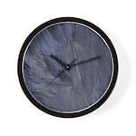 Mardi Gras Feather Time Wall Clock