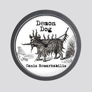 Demon Dog vintage funny doggie Wall Clock