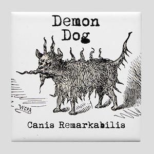 Demon Dog vintage funny doggie Tile Coaster