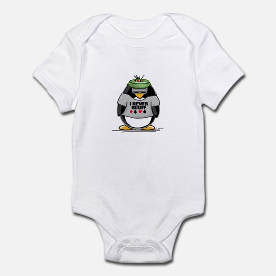 Poker Penguin Infant Bodysuit