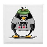 Poker Penguin Tile Coaster