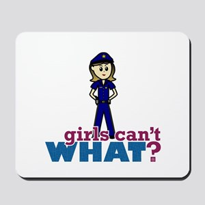 Police Woman Mousepad