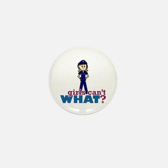 Police Woman Mini Button