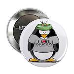 Love Poker Penguin Button