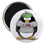 Love Poker Penguin Magnet