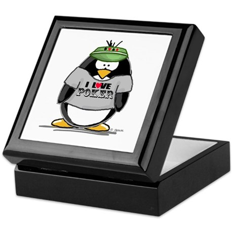 Love Poker Penguin Keepsake Box