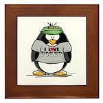 Love Poker Penguin Framed Tile