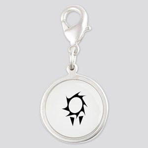 Vampire Cave Symbol (2) Silver Round Charm