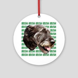 irish wolfhound Ornament (Round)