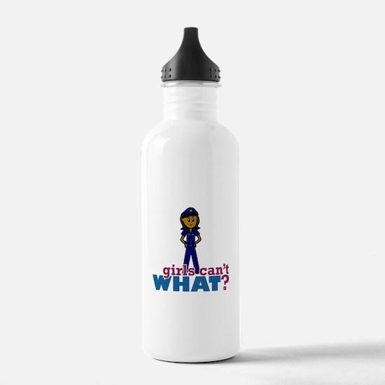 Woman Police Officer Water Bottle