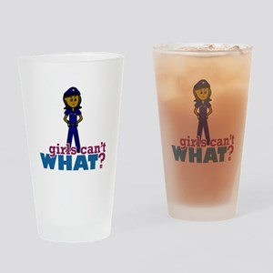 Woman Police Officer Drinking Glass